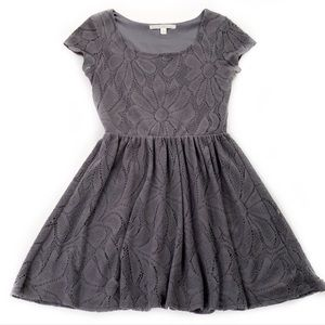 LC Lauren Conrad • Grey Lace Dress